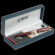 Шариковая ручка в подарочном футляре L, бордовый