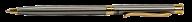 Шариковая ручка в бархатном чехле, сталь
