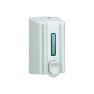 /Дозатор жидкого мыла 0,5 л, кнопочный, белый Solaris