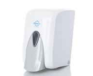 Дозатор жидкого мыла 0,5 л, наливной, кнопочный, белый Solaris