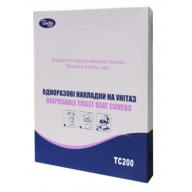 /Гигиенические накладки на унитаз, 200 шт., бумажные, белые TISCHA PAPIER