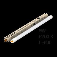 /Лампа LED, 9W, 0.6M, 6200K, 220V, матовая, VIDEX