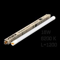 /Лампа LED, 18W, 1.2M, 6200K, 220V, матовая, VIDEX