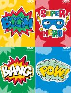 /Блокнот на пружине сверху SUPER HERO, А6, 40л., картонная обложка , KIDS Line