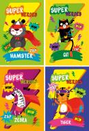 @/Блокнот на пружине сверху SUPER HERO, А6, 40л., картонная обложка , KIDS Line