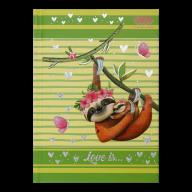 /Блокнот LOVE IS, А6, 64 л., клетка, тв. обл., мат. ламин.+лак, салатовый, KIDS Line