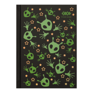 /Блокнот UFO, А6, 64 л., клетка, тв. обл., мат. ламин.+лак, чёрный, KIDS Line