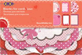 """@$Заготовка для открыток """"Love"""" 10.2*15.3см"""