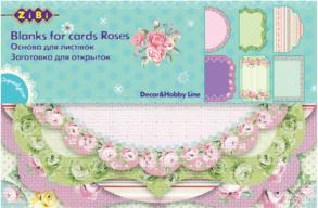 """@$Заготовка для открыток """"Roses"""" 10.2*15.3см"""