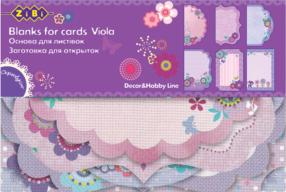 """@$Заготовка для открыток """"Viola"""" 10.2*15.3см"""