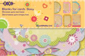 """@$Заготовка для открыток """"Daisy"""" 10.2*15.3см"""