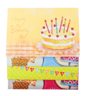 "@$Заготовка для открыток ""Birthday"" 10.5*14.8см"