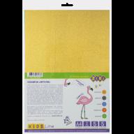 Фоамиран цветной металлизированный  А4, 5 листов - 5 цветов, 2мм, KIDS Line