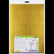Фоамиран цветной металлизированный  А3, 5 листов - 5 цветов, 2мм, KIDS Line