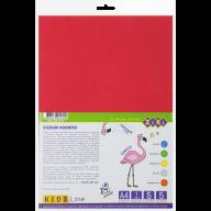 Фоамиран цветной самоклеящийся, А4, 5 листов - 5 цветов, 1мм, KIDS Line
