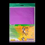 Бумага цветная фольгированная, самоклеющаяся, А4, 7 л.-7 цв., KIDS Line