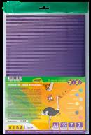Гофрокартон прокрашеный, матовый,  А4, 7 л.-7 цв., KIDS Line