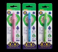 ^Ручка шариковая для правши с резиновым грипом, синий, блистер (1шт.), KIDS Line