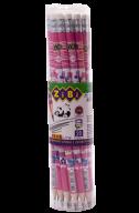 Карандаш графитовый FLOWERS HB, с ластиком , туба 20шт, KIDS Line