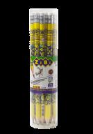 @$Карандаш графитовый EMOTIONS HB, с ластиком , туба 20шт, KIDS Line