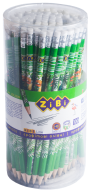 @$Карандаш графитовый TROPIKANA HB, с ластиком , туба 100шт., KIDS Line
