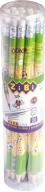 Карандаш графитовый GOAL HB, с ластиком , туба 20 шт., KIDS Line