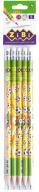 Карандаш графитовый GOAL HB, с ластиком, блистер (5 шт.), KIDS Line
