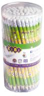 Карандаш графитовый GOAL HB, с ластиком , туба 100 шт., KIDS Line