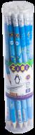 @$Карандаш графитовый ZiBiMAN HB, с ластиком, туба 20 шт., KIDS Line