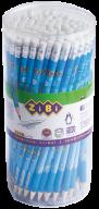 @$Карандаш графитовый ZiBiMAN HB, с ластиком , туба 100 шт., KIDS Line