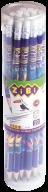 /Карандаш графитовый EXOTIC HB, с ластиком, туба 20 шт., KIDS Line