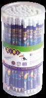 Карандаш графитовый EXOTIC HB, с ластиком , туба 100 шт., KIDS Line