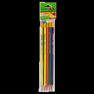 @$Карандаш графитовый RAINBOW HB, с ластиком , 5 шт. блистер, KIDS Line