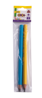 Карандаш графитовый трехгранный JUMBO HB, без ластика, 2 шт. в блистере, BABY Line