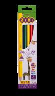 Карандаши цветные, 6 цветов, KIDS LINE