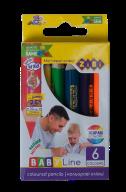 Карандаши цветные mini JUMBO, 6цв., BABY Line