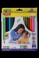 Карандаши цветные  JUMBO, с точилкой, 12цв., BABY Line