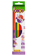 Карандаши цветные Double, 6 шт. (12 цветов), KIDS Line