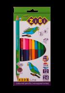 Карандаши цветные Double, 12 шт. (24 цвета),  KIDS Line