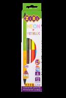 Карандаши цветные Double Neon+Metallic, 6 шт. (12 цветов), KIDS LINE