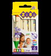 Карандаши восковые JUMBO, 6 цветов, треугольные, BABY Line