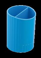 /Стакан для письменных  принадлежностей  СФЕРИК на два отделения, синий, KIDS Line
