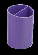 /Стакан для письменных  принадлежностей СФЕРИК на два отделения, фиолетовый, KIDS Line