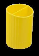 /Стакан для письменных  принадлежностей  СФЕРИК на два отделения, желтый, KIDS Line