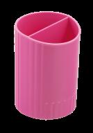 /Стакан для письменных  принадлежностей  СФЕРИК на два отделения, розовый, KIDS Line