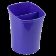 /Стакан для письменных  принадлежностей КВАДРИК на два отделения, фиолетовый, KIDS Line