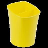 /Стакан для письменных  принадлежностей КВАДРИК на два отделения, желтый, KIDS Line