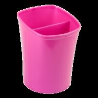 /Стакан для письменных  принадлежностей КВАДРИК на два отделения, розовый, KIDS Line