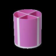 Подставка для пишущих принадлежностей ТВИСТЕР розовая, 4 отделения, пластик, KIDS Line