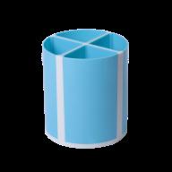 Подставка для пишущих принадлежностей ТВИСТЕР голубая, 4 отделения, пластик, KIDS Line